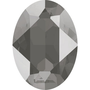 4120 Swarovski Oval Fancy Stones, Crystal Dark Grey Unfoiled (001 L111S)