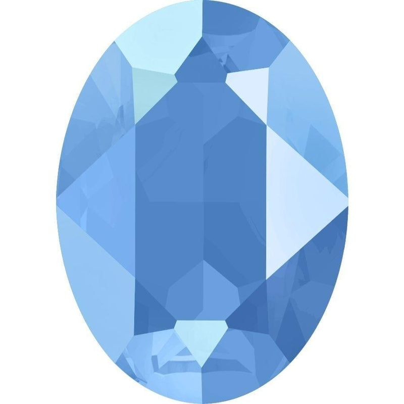 4120 Swarovski Oval Fancy Stones, Crystal Summer Blue Unfoiled (001 L114S)
