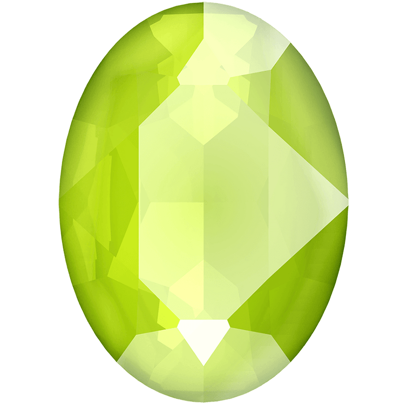 4120 Swarovski Oval Fancy Stones, Crystal Lime Unfoiled (001 L125S)