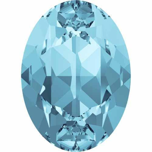 4120 Swarovski Oval Fancy Stones, Aquamarine (202)