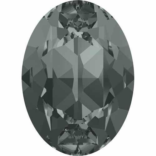4120 Swarovski Oval Fancy Stones, Black Diamond (215)