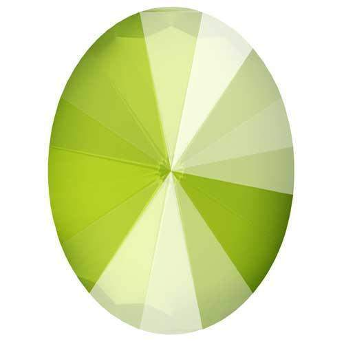 4122 Swarovski Rivoli Oval Fancy Stones, Crystal Lime Unfoiled (001 L125S)