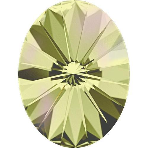 4122 Swarovski Rivoli Oval Fancy Stones, Crystal Luminous Green (001 LUMG)