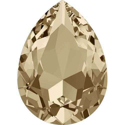 4320 Swarovski Pear Fancy Stones, Crystal Golden Shadow (001 GSHA)