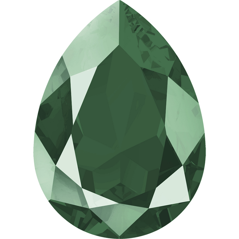 4320 Swarovski Pear Fancy Stones, Crystal Royal Green Unfoiled (001 L109S)
