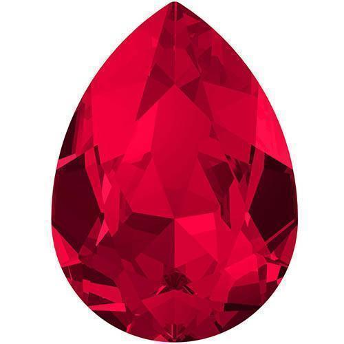 4320 Swarovski Pear Fancy Stones, Scarlet (276)