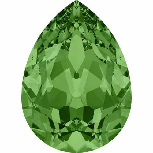 4320 Swarovski Pear Fancy Stones, Fern Green (291)