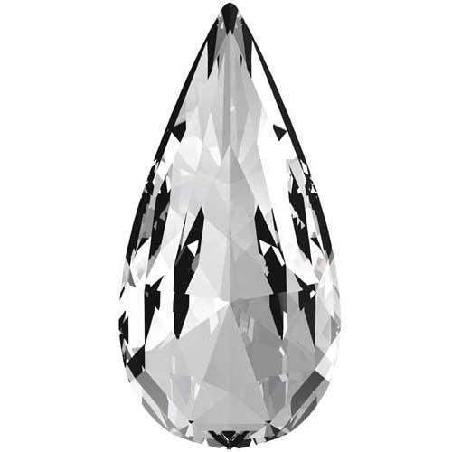 4322 Swarovski Teardrop Fancy Stones, Crystal (001)