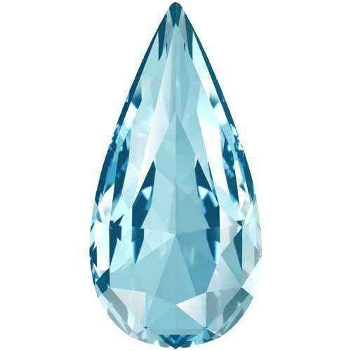 4322 Swarovski Teardrop Fancy Stones, Aquamarine (202)