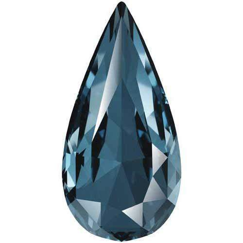 4322 Swarovski Teardrop Fancy Stones, Denim Blue (266)