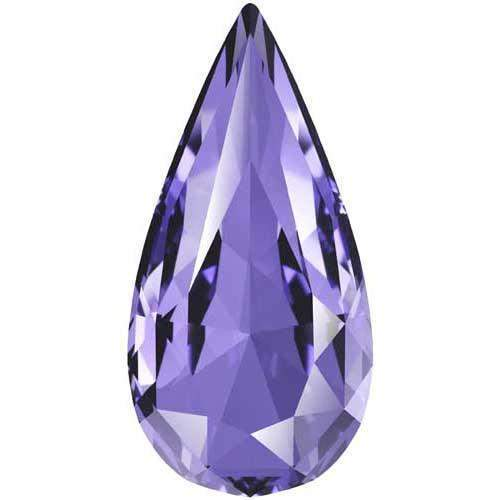 4322 Swarovski Teardrop Fancy Stones, Tanzanite (539)