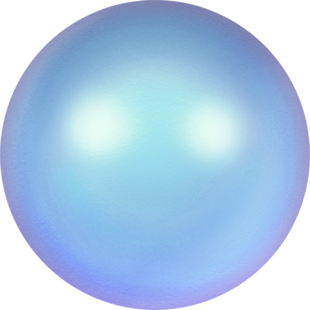 5817 Cabochon Pearls (Half-Drilled), Crystal Iridescent Light Blue Pearl (001 948)