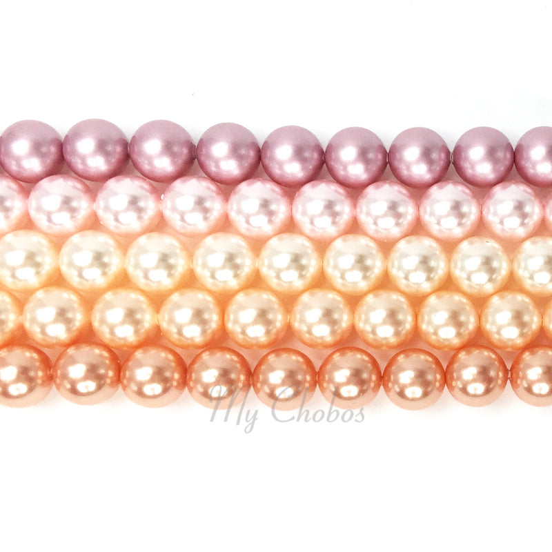 5810 Swarovski Round Pearls, Pink Mix Colors