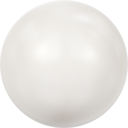 5811 Round Pearls (Large Hole), Crystal White Pearl (001 650)