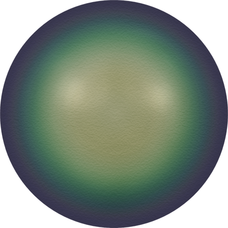 5811 Round Pearls (Large Hole), Crystal Scarabaeus Green Pearl (001 946)