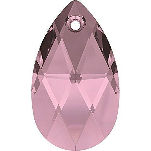 6106 Swarovski Pear-shaped Pendants, Crystal Antique Pink (001 ANTP)