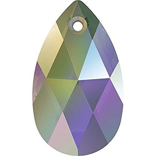 6106 Swarovski Pear-shaped Pendants, Crystal Paradise Shine (001 PARSH)