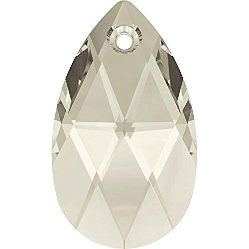 6106 Swarovski Pear-shaped Pendants, Crystal Silver Shade (001 SSHA)