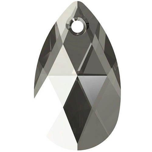 6106 Swarovski Pear-shaped Pendants, Black Diamond (215)