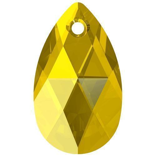 6106 Swarovski Pear-shaped Pendants, Light Topaz (226)