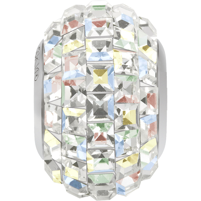 80201 Swarovski BeCharmed Pavé Beads, Xilion Square