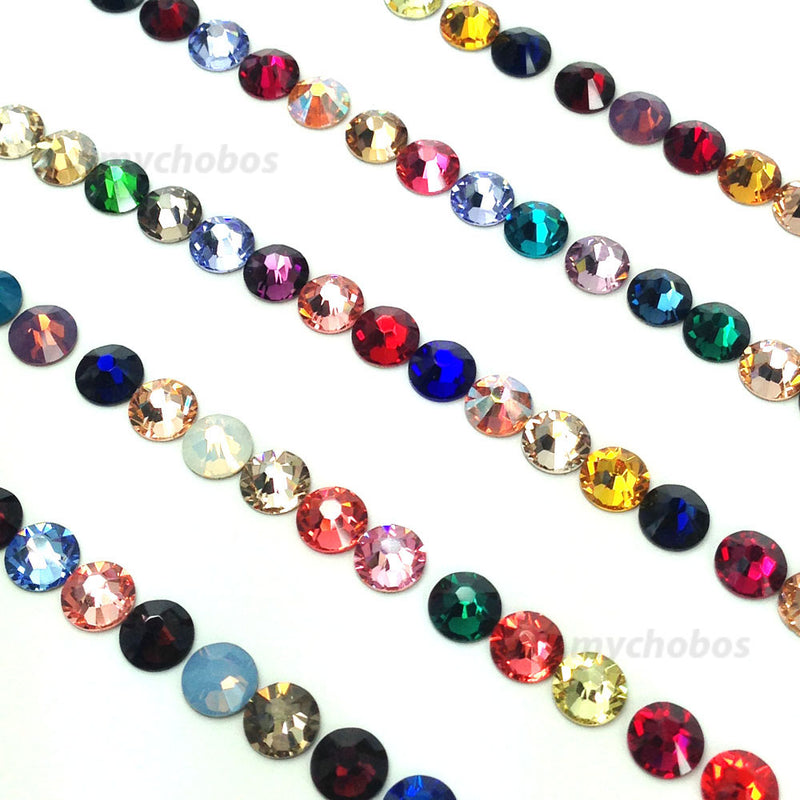 2058 & 2088 Swarovski Flatback No Hotfix, Assorted Mix Colors