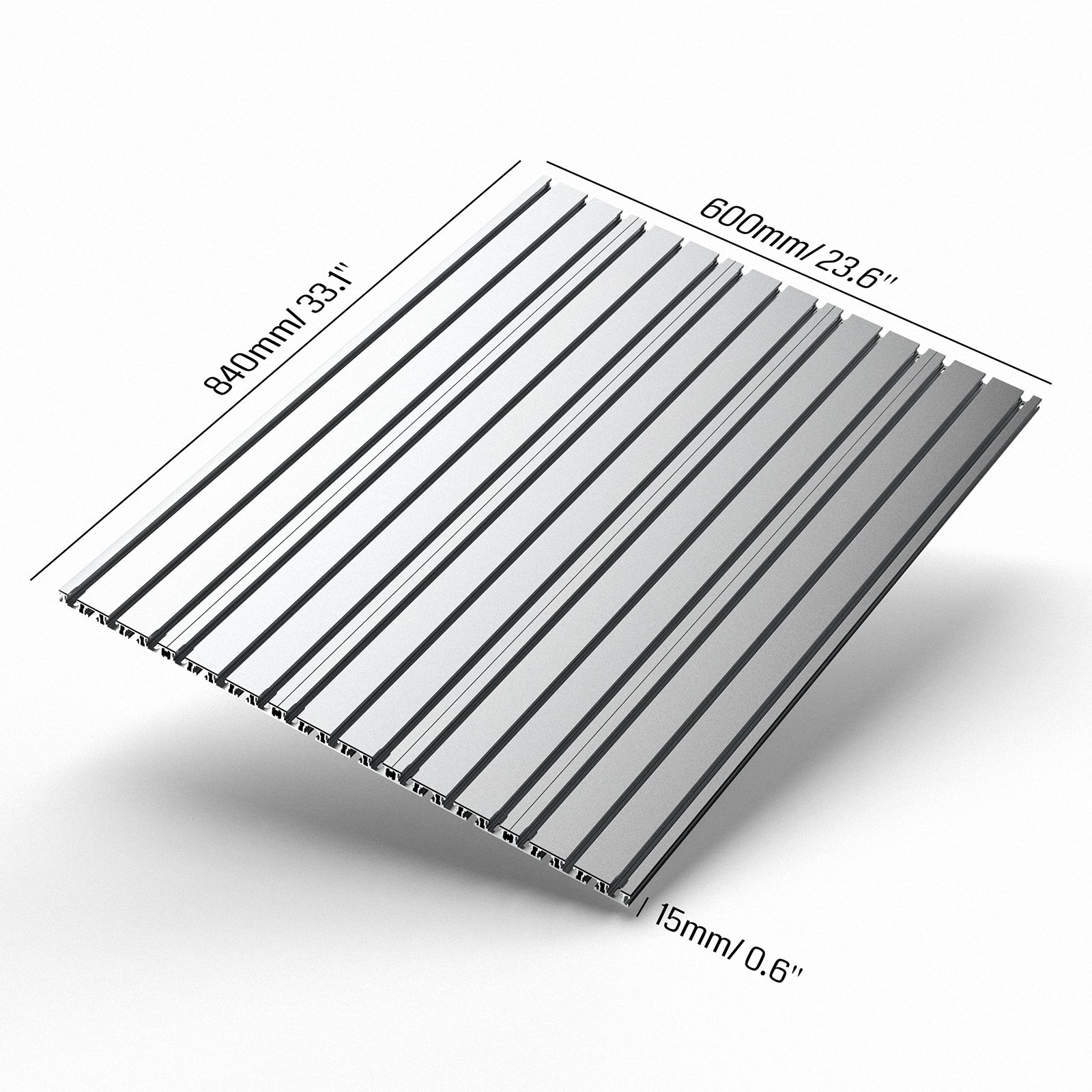 Genmitsu  6060 T-Slot Table Aluminum Spoilboard with Dust Baffle for PROVerXL 4030 XY-Axis Extension Kit | SainSmart