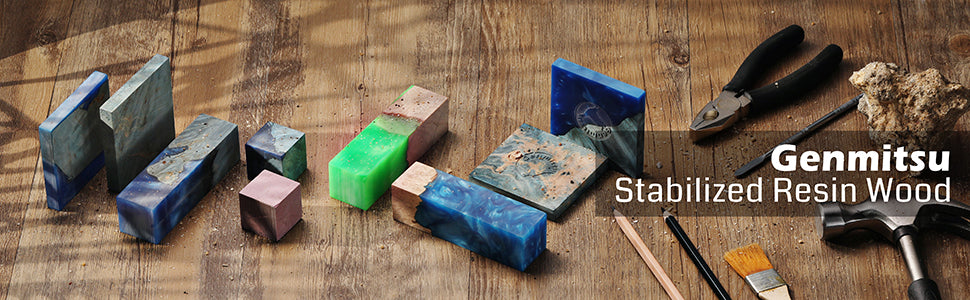 Stabilized Resin Wood Kit for Custom Knife Making, Pen Making and Other DIY
