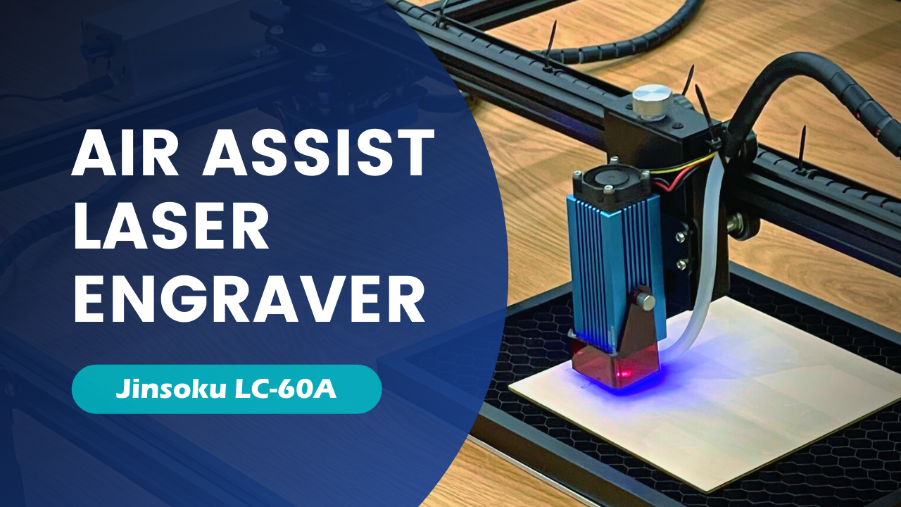 Genmitsu Jinsoku LC-60A 5.5W Laser Engraver Cutter with Air Assist System | SainSmart