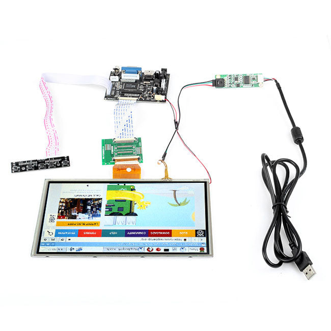 Quot lcd touch screen hdmi vga driver board for raspberry