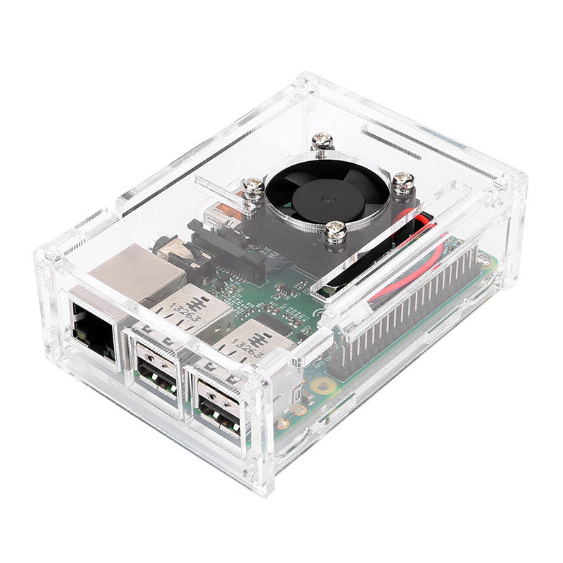 Pi2/Pi3 Arcylic Case with Cooling Fan - Transparent