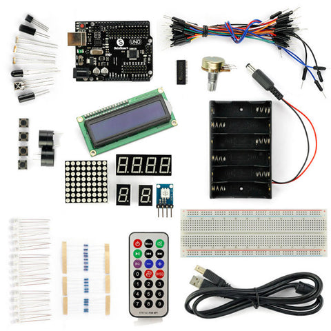 SainSmart UNO R3+1602LCD Starter Kit with 17 Basic Arduino Projects