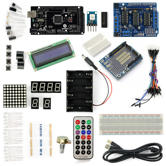 SainSmart MEGA2560 R3+L293D Motor Drive Shield Starter Kit With Basic Projects for Arduino