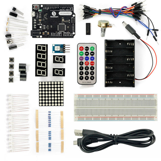 Leonardo R3 Starter Kit with 16 Projects