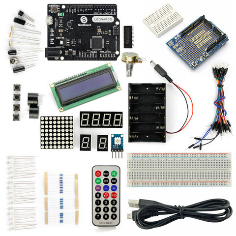SainSmart Leonardo R3+Prototype Shield  Starter Kit