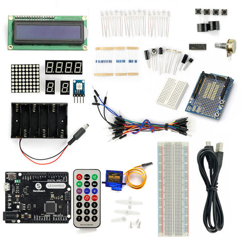 SainSmart Leonardo R3+5V Servo motor Starter Kit With Basic Arduino Projects