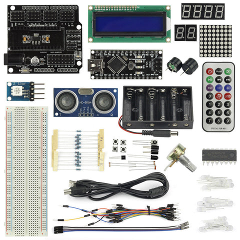 SainSmart Nano V3+Distance Sensor Starter Kit for Arduino Projects