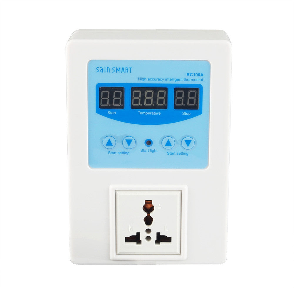SainSmart RC100A Digital Temperature Controller Thermostat, AC110V-240V, 1 Relay with Sensor, 9? to 99?