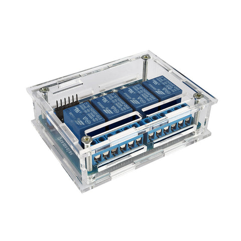 4-Channel Relay Module with Acrylic Case