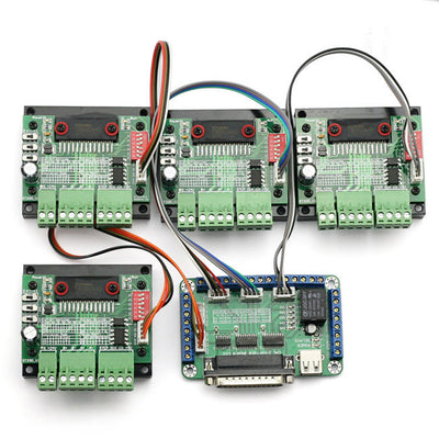 4 axis cnc mach3 usb motion controller card interface breakout board5 pcs 4 axis 3a cnc stepper motor driver controller board, tb6560