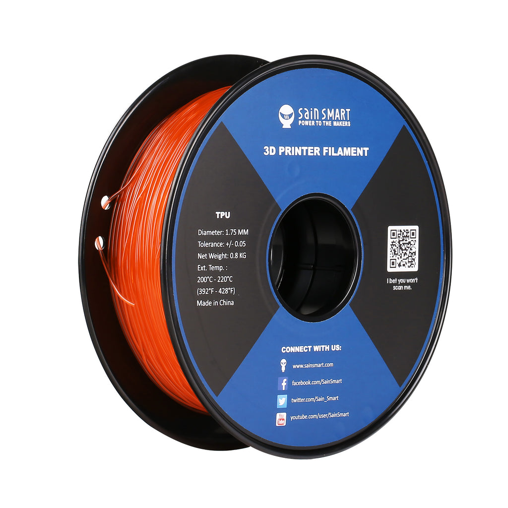 SainSmart TPU 3D Printing Filament | Perfect for Drones Racing | 0 8