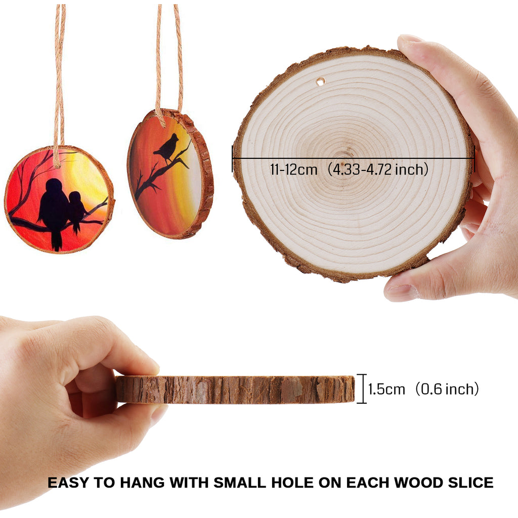 Genmitsu CNC Material Natural Wood Slices for CNC Laser Cutting, Wood Burning