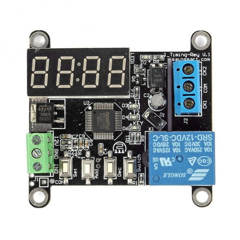 DC 12V Delay Timer Switch w/ Adjustable Time for Arduino Raspberry Pi