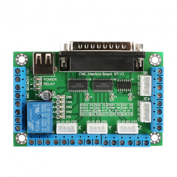 5-Axis CNC Breakout Board for Stepper Motor Driver on