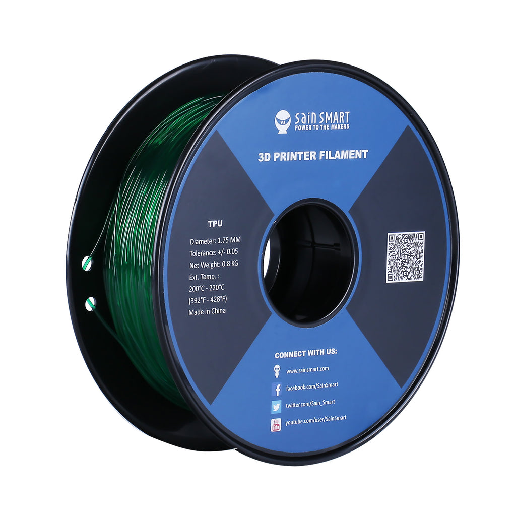 All Colors, TPU Flexible Filament 1.75mm 0.8kg/1.76lb