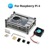 SainSmart Acrylic Case for Raspberry Pi 4B with Cooling Fan