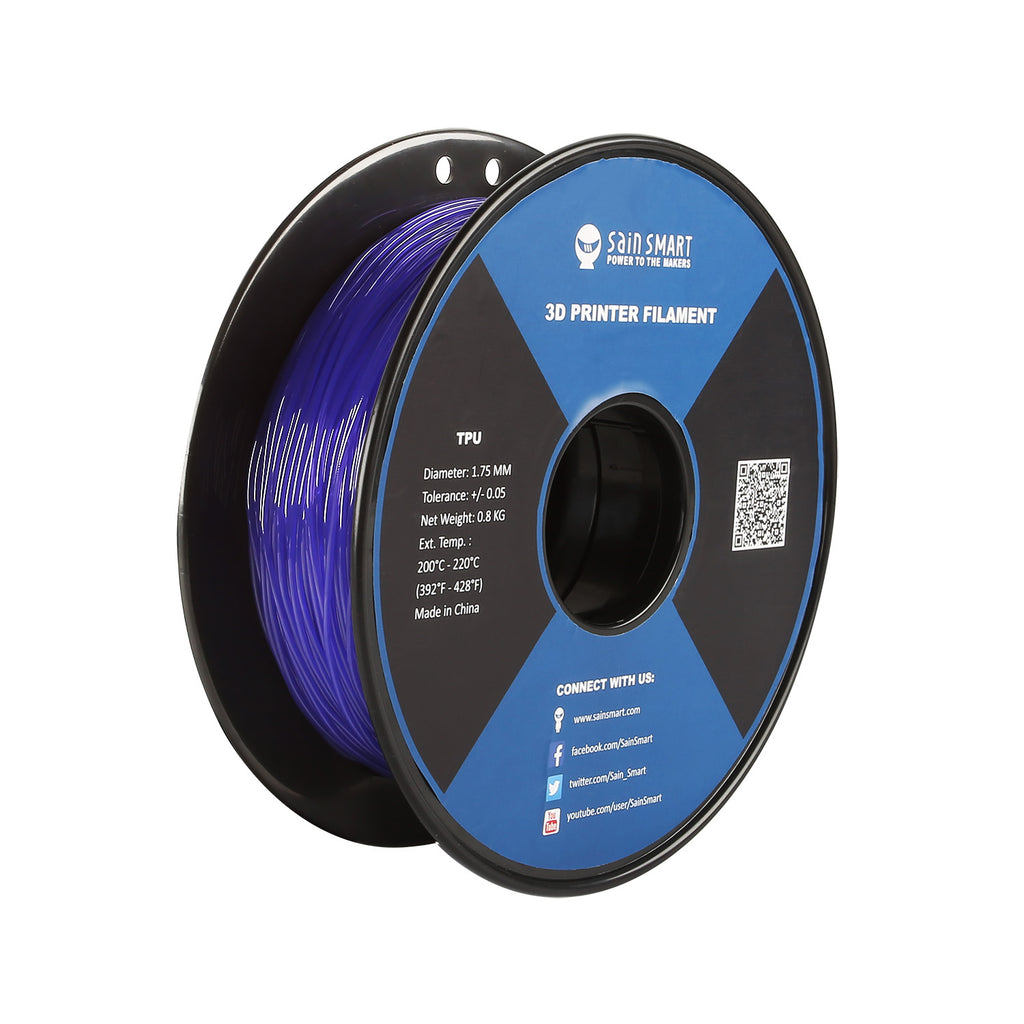 Violet, Flexible TPU Filament 1.75mm 0.8kg/1.76lb