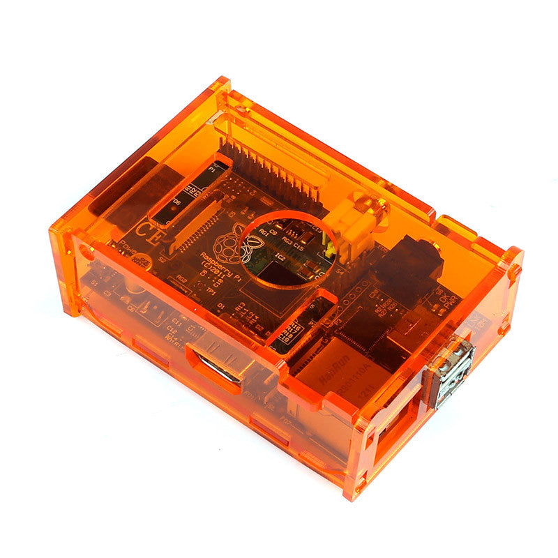 Raspberry Pi B Case Enclosure New Gloss Transparent Acrylic Computer Box