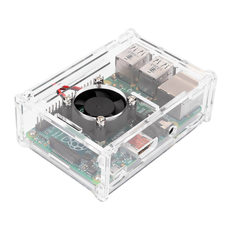Pi2/Pi3 Arcylic Case with Cooling Fan