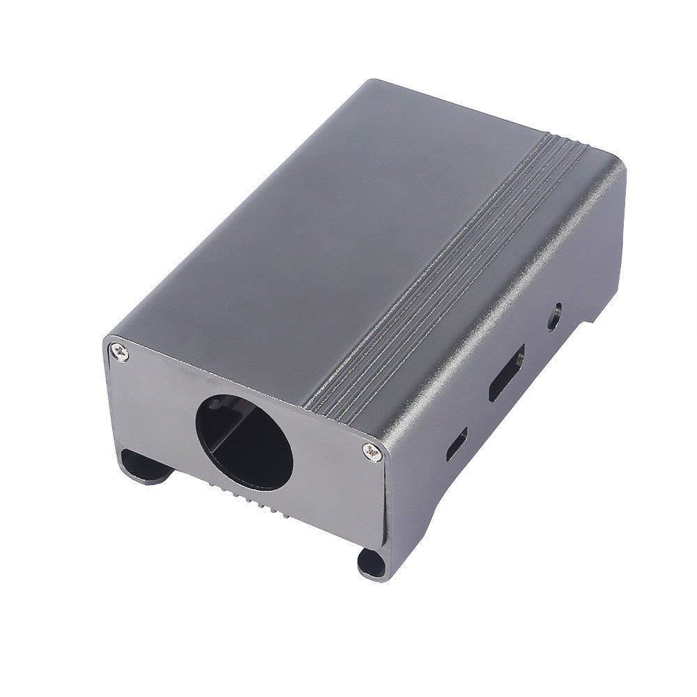 SainSmart Gray Aluminum Alloy Protective Case with Cooling Fan for Raspberry Pi 3  Model B and Pi 2 Model B+